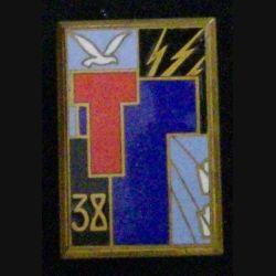 38° RST : 38° RÉGIMENT DE SAPEURS TÉLÉGRAPHISTES Drago Béranger en émail (L42)