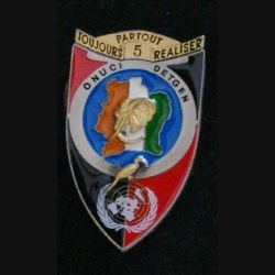 5° RG : 5° régiment du génie DETGEN OPÉRATION CALAO ONUCI Delsart (L 35)