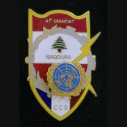 5° RG : compagnie de commandement et des services CCS du 5° régiment du génie FINUL 41° mandat HAMZE émail (L 35)