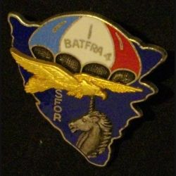 1° RCP : 1° RÉGIMENT DE CHASSEURS PARACHUTISTES SFOR BAT FRA 4 de fabrication Ballard (L 43)