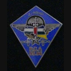 1° RHP : 1° RÉGIMENT DE HUSSARDS PARA 4° ESCADRON RCA 95-96