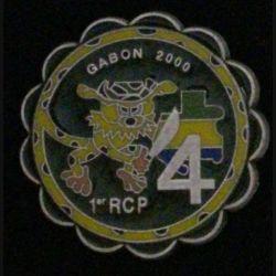 1° RCP : 1° RÉGIMENT DE CHASSEURS PARACHUTISTES 4° CIE GABON 2000 Pichard Balme (L 44)