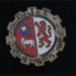 155° CIT : 155° Compagnie d'instruction du train Drago G. 1284 émail (L 70)