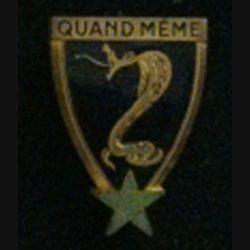11° RCA : 11° régiment de chasseurs d'Afrique Drago Paris Rue olivier Métra émail (L 8)