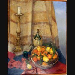 Peinture à l'huile de Svetlana Manen intitulée Agrumi Italie 1963 de dimension 100*81