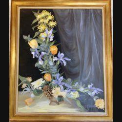 Peinture à l'huile de Svetlana Manen intitulée Bouquet de Coppélia 1969 3ème prix de Deauville