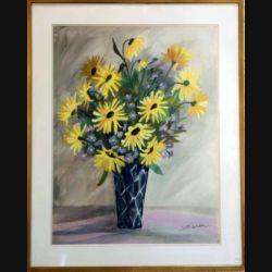 Peinture à l'aquarelle de Svetlana Manen intitulée soleils de dimension 81*65 vendu sans son cadre