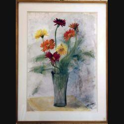 Peinture à l'aquarelle de Svetlana Manen intitulée Bouquet japonais de dimension 83*63 vendu sans son cadre