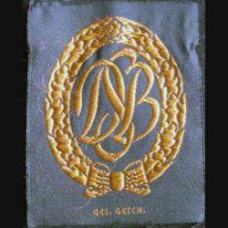 Insigne tissu de brevet sportif militaire allemand GES GESCH