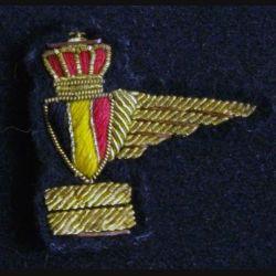 Insigne tissu de brevet parachutiste belge en canetille (L1)