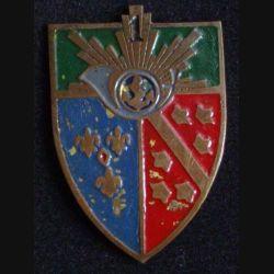 1° RCH : 1° régiment de chasseurs Fab artisanale avec l'ancre dans le cor & 1 au dessus tôle peinte (L84)