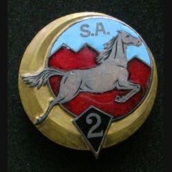 2° RSA : 2° régiment de spahis algériens Drago Paris rue Béranger en émail (L 58)