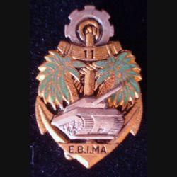 11° EBIMA : insigne métallique du 11° escadron blindé d'infanterie de marine de fabrication Drago G. 1594 en émail (193)