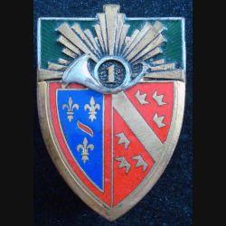 1° RCH : 1° régiment de chasseurs de fabrication Drago Romainville H. 120 en émail (L84)