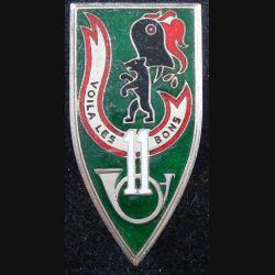11° GECM : 11° groupe groupe d'escadrons de chars moyens de fabrication Drago en émail (L89)