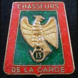 13° RCH : 13° régiment de chasseurs de fabrication FIA G. 2252 en émail (L89)