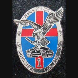 3° RC : insigne métallique du 1° escadron du 3° régiment de cuirassiers de fabrication Balme