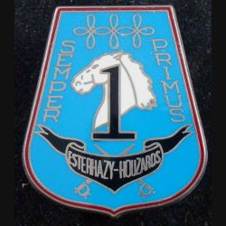 3° RH : insigne métallique du 1° escadron du 3° régiment de hussards de fabrication Boussemart 2002