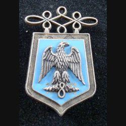 8° RH : insigne métallique du 8° régiment de hussards de fabrication Fraisse G. 865