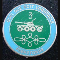 8° RH : insigne métallique du 3° escadron du 8° régiment de hussards de fabrication Fraisse