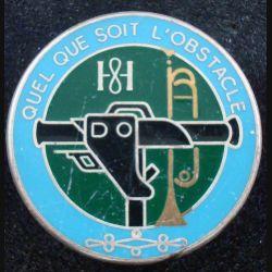 8° RH : insigne métallique du peloton milan du 8° régiment de hussards de fabrication Fraisse