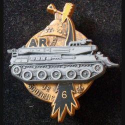 6° RD : insigne métallique de l'atelier régimentaire du 6° régiment de dragons de fabrication Fraisse