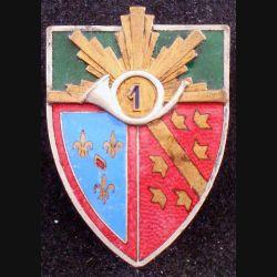 1° RCH : 1° régiment de chasseurs de hauteur 4 cm en émail fabrication Augis non marquée (L84)