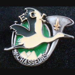 4° RCH : insigne de l'escadron de commandement et de logistique ECL du 4° régiment de chasseurs de fabrication FIA (L86)