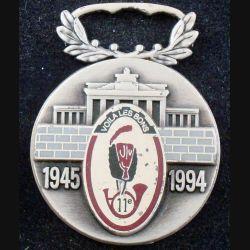 11° RCH : médaille de l'amicale des anciens du 11° régiment de chasseurs 1945-1994 sans ruban (L89)