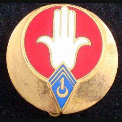 1° RSA : 1° régiment de spahis algériens Drago Béranger H. 164 en émail 2 chevrons (L 58)