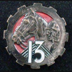 13° GRCA : 13° groupe de reconnaissance de corps d'armée Arthus Bertrand (poinçon) en émail (L 81)