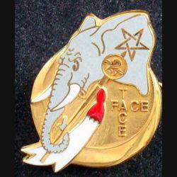1° RS : insigne métallique du 2° escadron du 1° régiment de spahis en RCA en 1993 de fabrication Drago n° 140