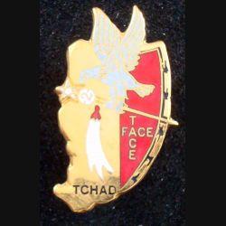 1° RS : insigne métallique du 2° escadron du 1° régiment de spahis au Tchad de fabrication Drago n° 089