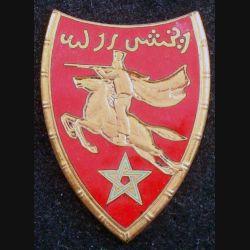 2° RSM : 2° régiment de spahis marocains de fabrication Courtois sans bordure en émail et sans attache (L 62)