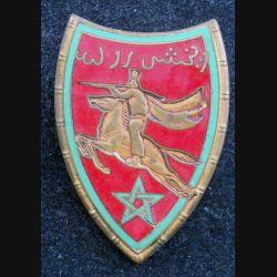 22° RSM : 22° régiment de spahis marocains modèle embouti en émail (L 62)