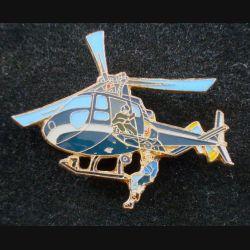 Pin's Gendarmerie : pin's métallique d'hélicoptère de la gendarmerie hélitreuillage (L 73)