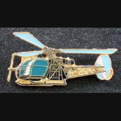 Pin's Gendarmerie : pin's métallique d'hélicoptère de la gendarmerie (L 73)