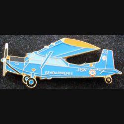 Pin's Gendarmerie : pin's métallique d'avion de la gendarmerie (L 73)