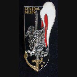 PROMO CYR : insigne métallique de la promotion Général Gilles 26 juillet 1970 de fabrication Drago Paris dragon en relief (L17)