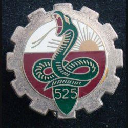 525° RT : Insigne métallique du 525° régiment du train de fabrication Fraisse H. 613
