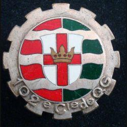 102° CQG : 102° compagnie de Quartier Général de fabrication Drago Paris G. 826 en émail (L 105)