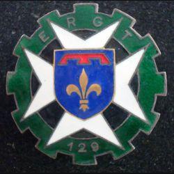 129° ERGT : 129° escadron de réserve générale du train en émail Drago Olivier Métra (L118)