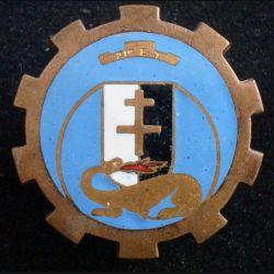 21° ERT : 21° escadron régional du train de fabrication Arthus-Bertrand en émail