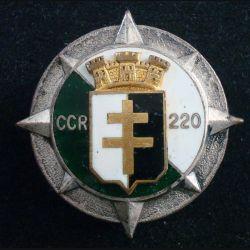 220° CCR : 220° compagnie de circulation routière de fabrication Drago Paris en émail (L111)