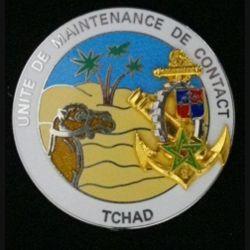 9° BMDIMA : insigne métallique de l'unité de maintenance en condition du matériel de la 9° brigade d'infanterie de marine UMC au TCHAD opération TACAUD ÉPERVIER 1998 de fabrication Boussemart