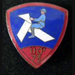 110° - 73° RI : 110° - 73° régiment d'infanterie 32 mm Chobillon en émail (L 95)