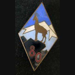80° RIA : 80° régiment d'infanterie alpine Arthus Bertrand Paris Déposé ABPD en émail (L 95)