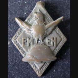 EMEH : Insigne métallique de l'école militaire enfantine d'Hériot de fabrication Arthus Bertrand épingle à bascule absente (L16)
