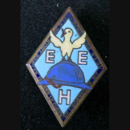 ECOLE : Insigne métallique de l'école militaire enfantine d'Hériot de fabrication Drago Béranger en émail épingle cassée (L16)