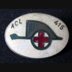 415° ACL : 415° ambulance chirurgicale lourde d'armée de fabrication Mourgeon en émail (L 96)